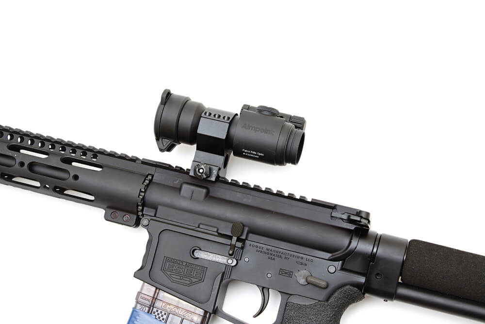 The Aimpoint PRO, a scope with night vision capabilities and a long battery life