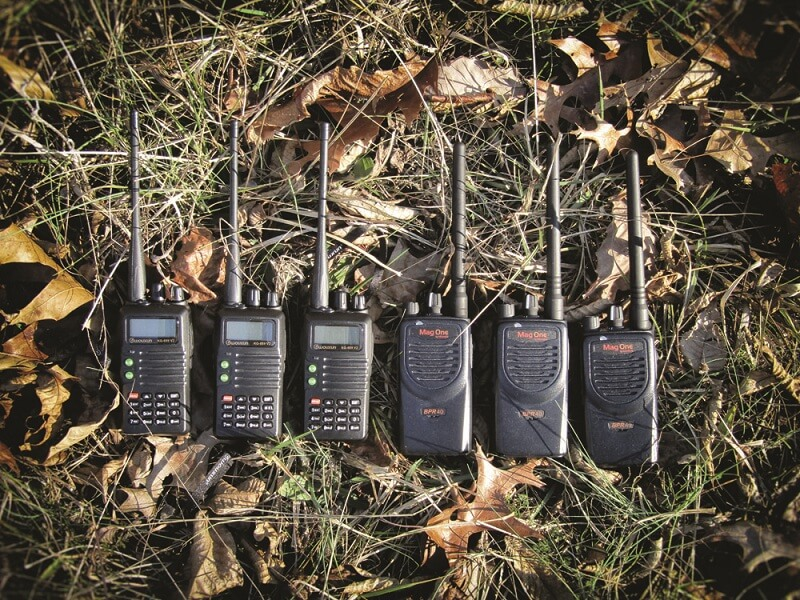 6 radios, that can be used to communicate with each other in the field