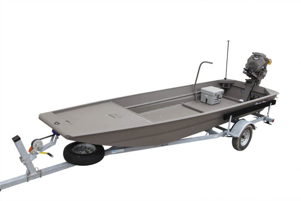 The Gator Series is the company's basic boat, but it can be outfitted with a number of handy add-ons.