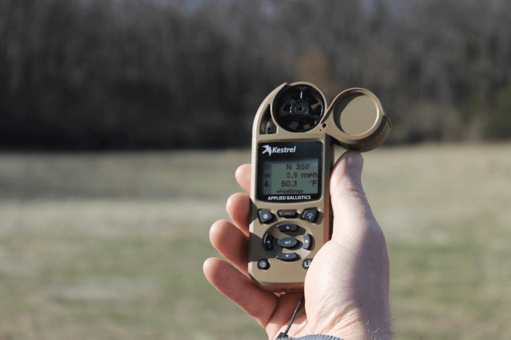 Observation goes beyond using your physical senses. A Kestrel weather meter provides clues into atmospheric changes that could signal incoming weather and the need to act.