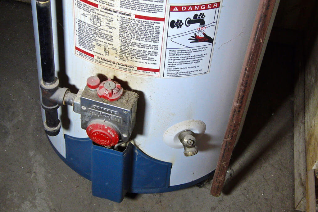 One source within the home for potable water is the water heater. If it is to be used, the pilot light and the gas must be shut off.