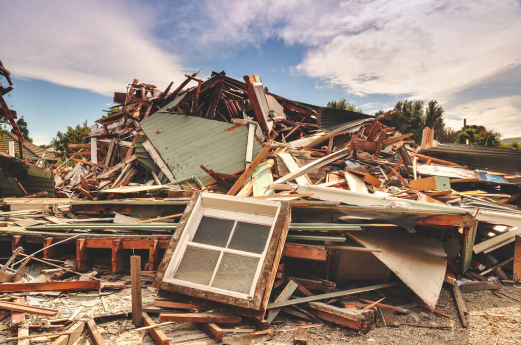 This is the aftermath of an earthquake in New Zealand. Damage from an earthquake can be in the billions of dollars.