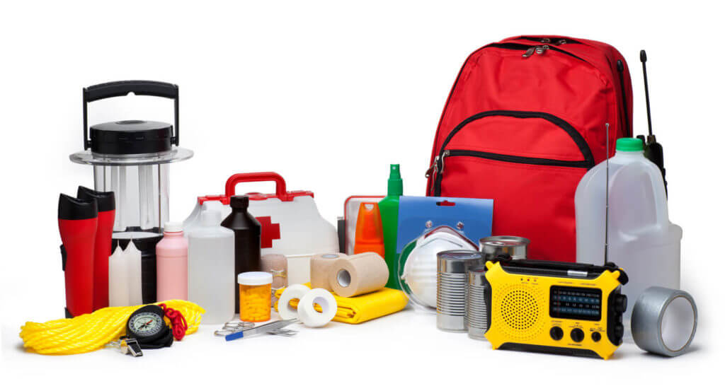 Emergency supplies placed in a basement or tornado shelter are a must for anyone living in Tornado Alley.