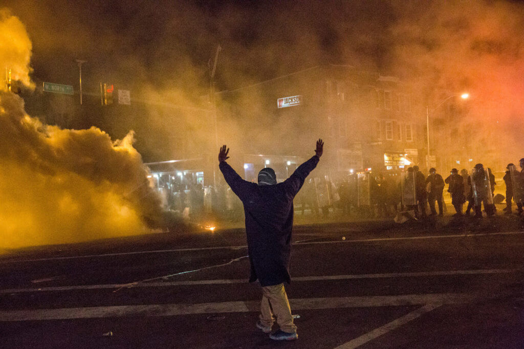 The National Guard was called in during the 2015 riots in Baltimore.