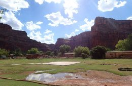 Swamped Canyon: Flash Flood Sends Arizona Tourists Scurrying for High Ground