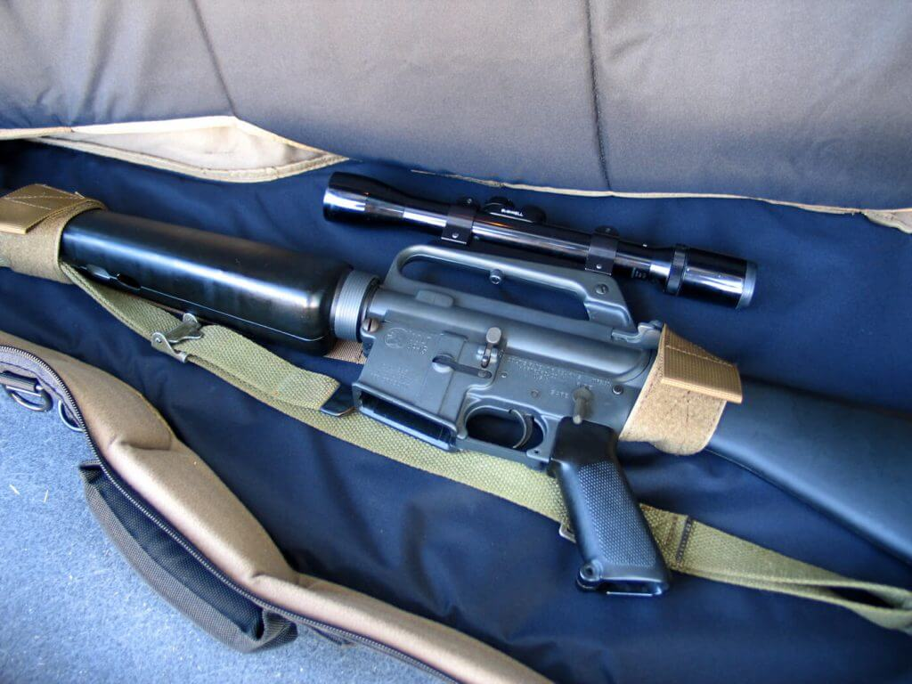 It is long enough to handle a stock AR-15 with room to spare or, interestingly enough, a guitar. The straps can be moved to accommodate most size rifles.