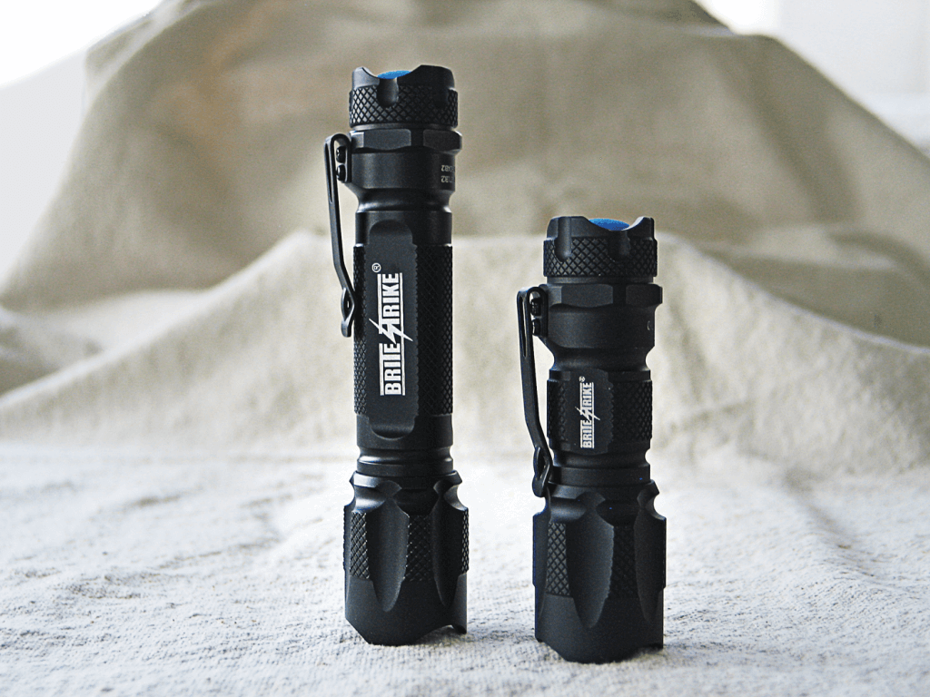 At 5.2 and 3.5 inches, respectively, the BDRC and DB-180 tactical flashlights by Brite-Strike are high quality products built to last.