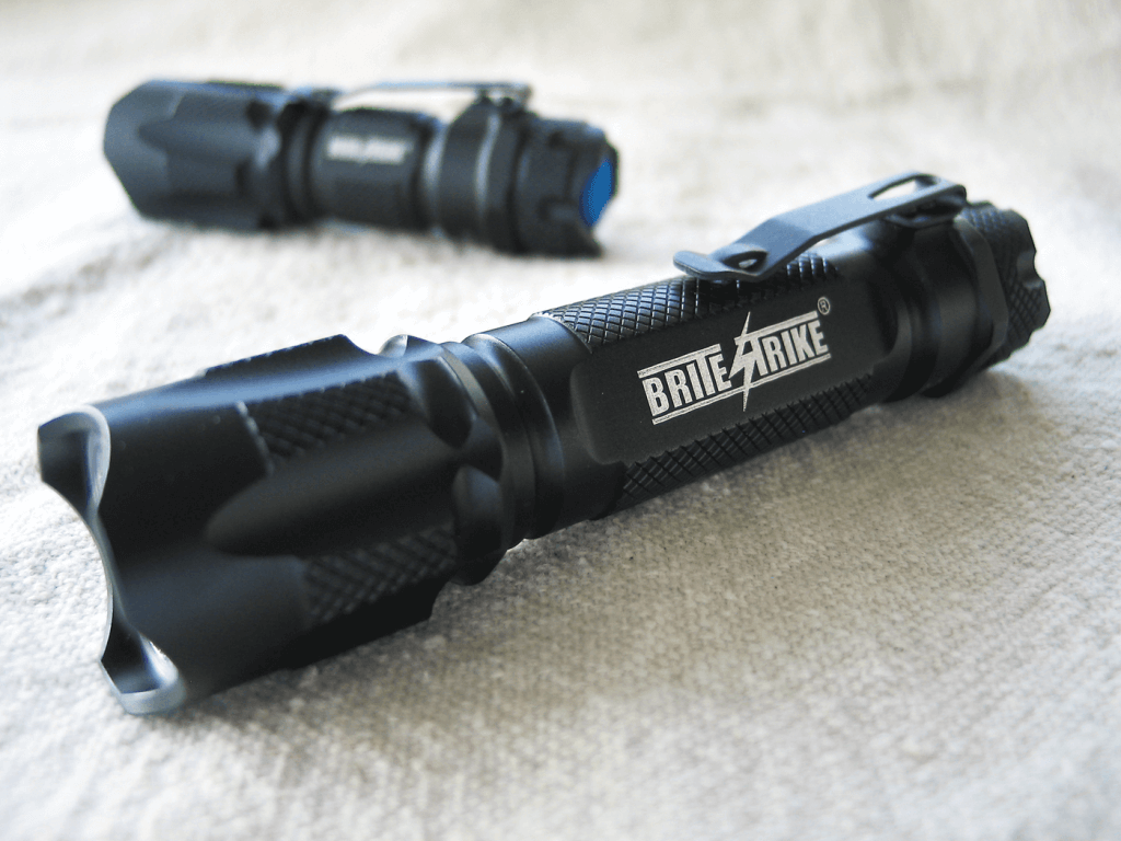 Machined from a cylinder of aluminum, these tactical lights can be used as a formidable weapon if necessary, not only by using the light itself to blind but the body of the light as a striking object.