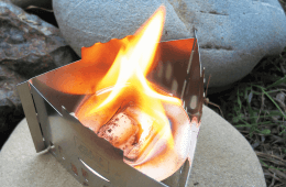 Simple Stainless Stove Stand: Esbit's Compact Stove and Pot Stand