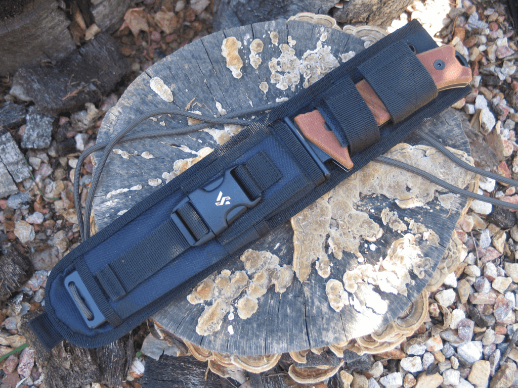 Encasing this hefty knife is a stout nylon sheath which can be fitted to you or packed in a variety of ways.