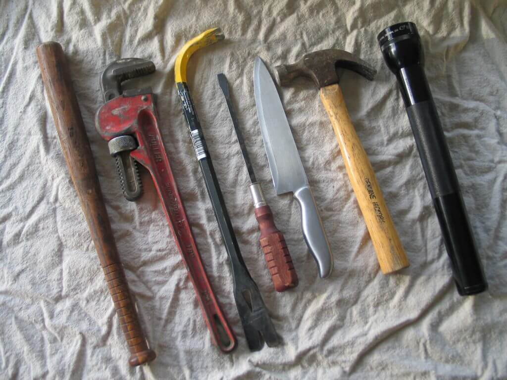 Improvised weapons gathered from common household items can be just as deadly if you're prepared to use them without hesitation when your life is on the line.
