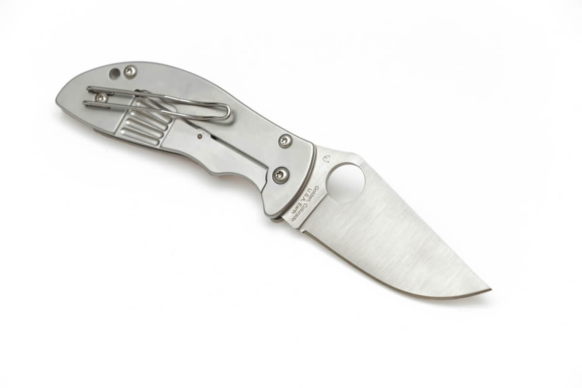 The Foundry folding knife, which uses a thick wire clip