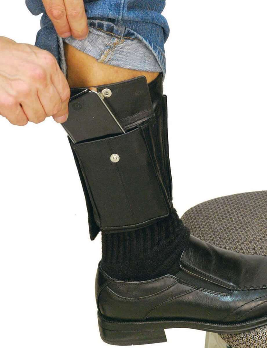 An ankle wallet, where you can hide your money from muggers