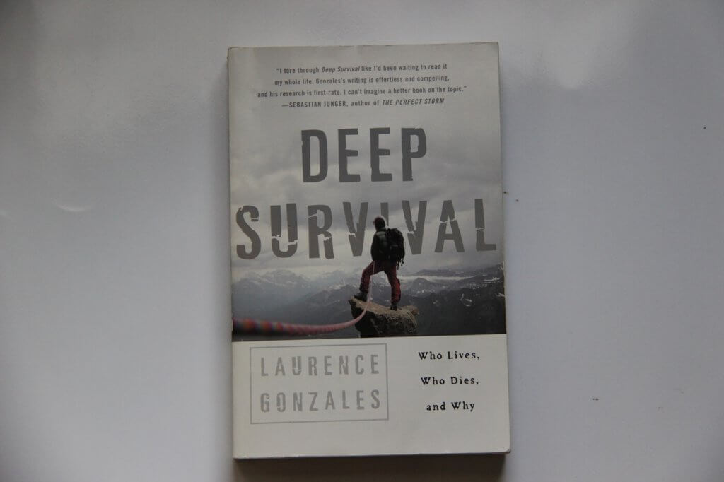 Deep Survival: Who Lives, Who Dies and Why, a survival book written by Laurence Gonzales