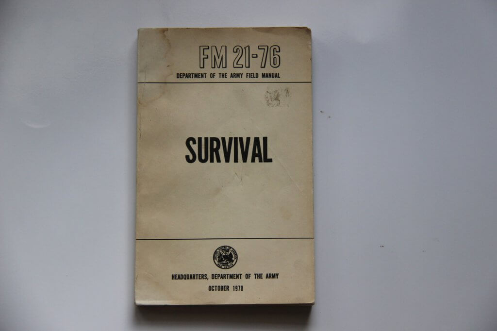 Field Manual 21-76, a survival book released by the United States Department of Defense publication