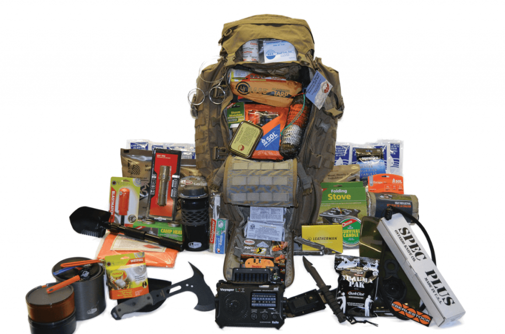 Bug-out bag with bug-out supplies.