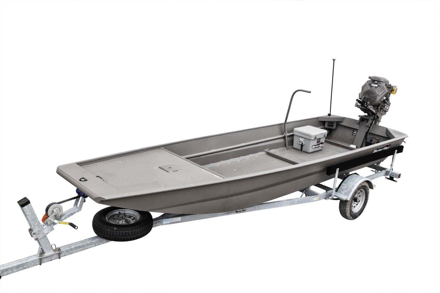 Gator-Tail basic motor/boat combination in trailer rig