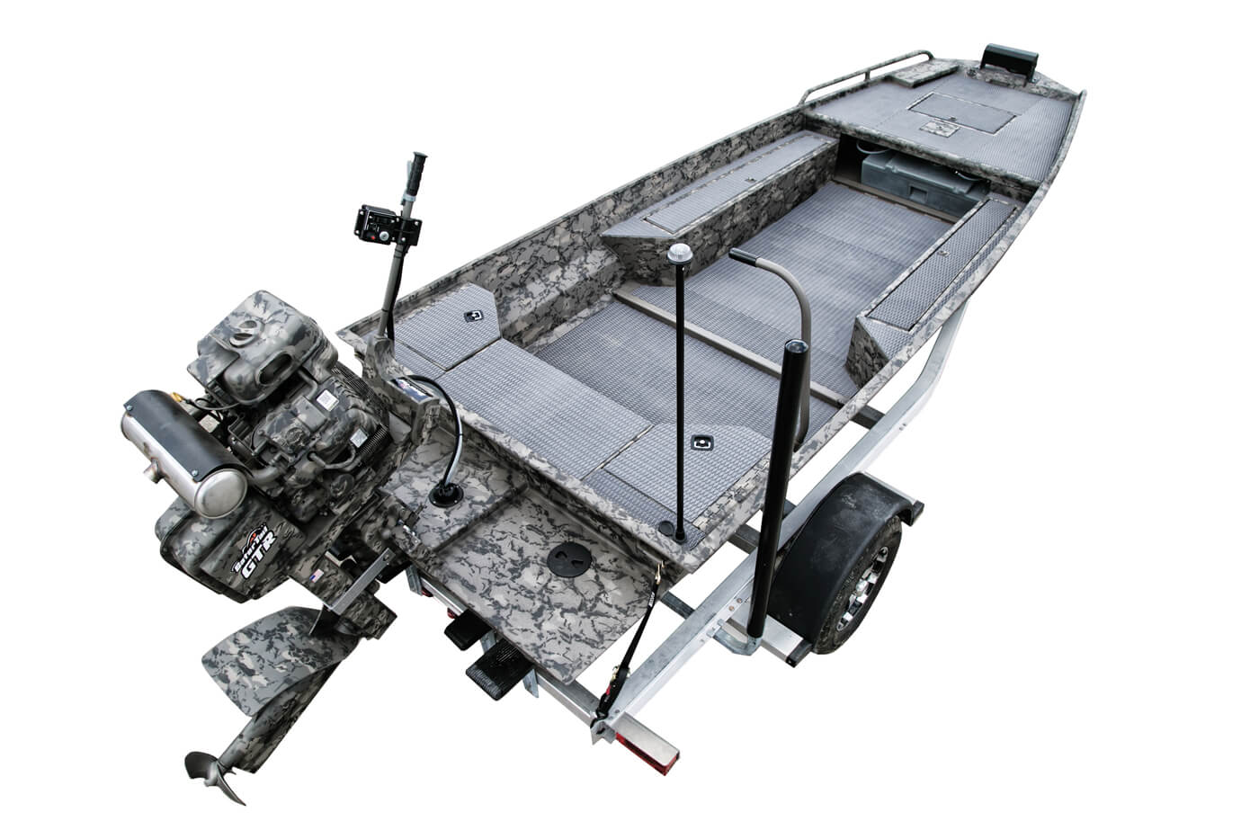 Gator-Tail Extreme Series boat in trailer rig