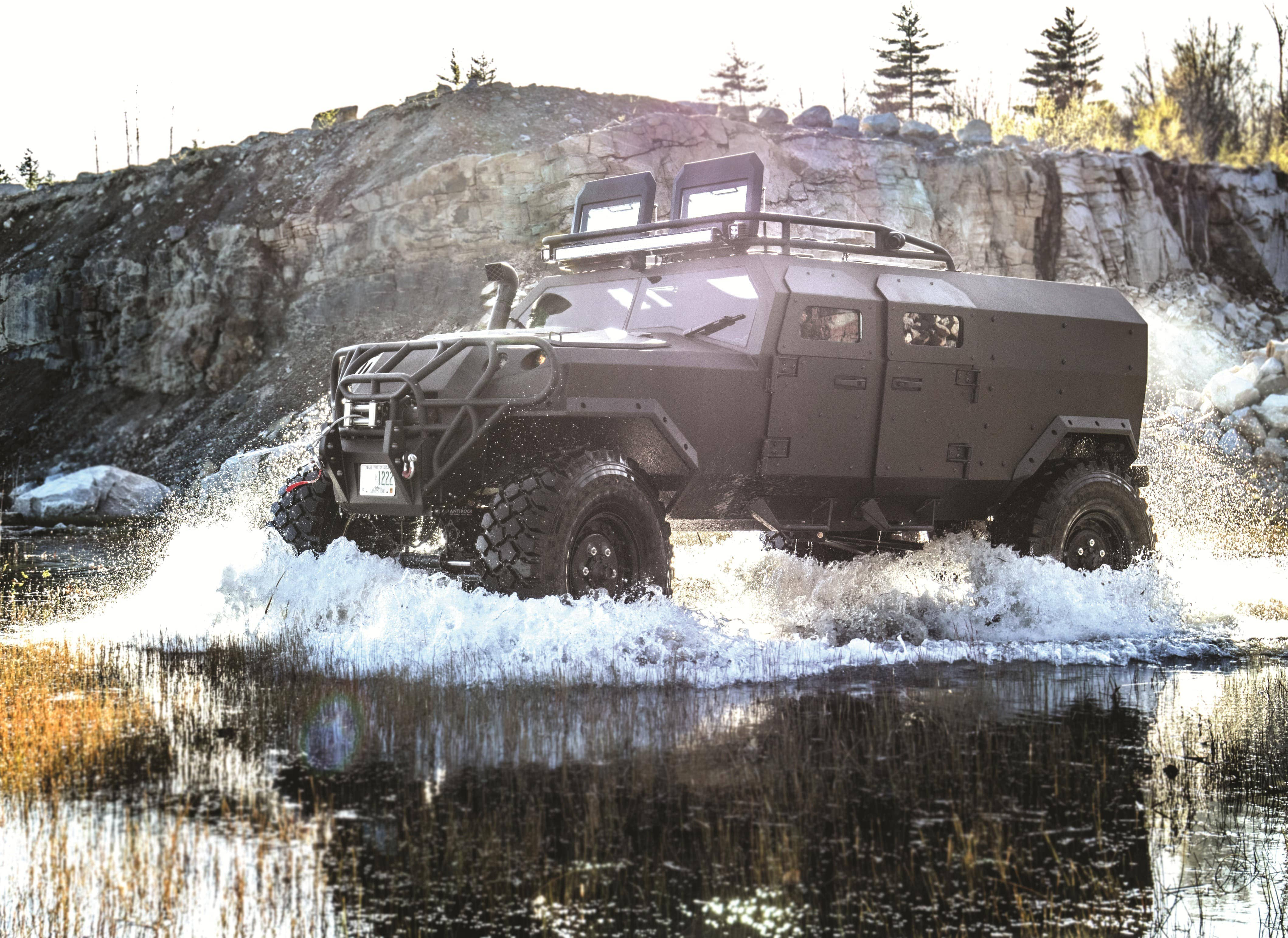 The PSV will ford water obstacles up to 6 feet deep.