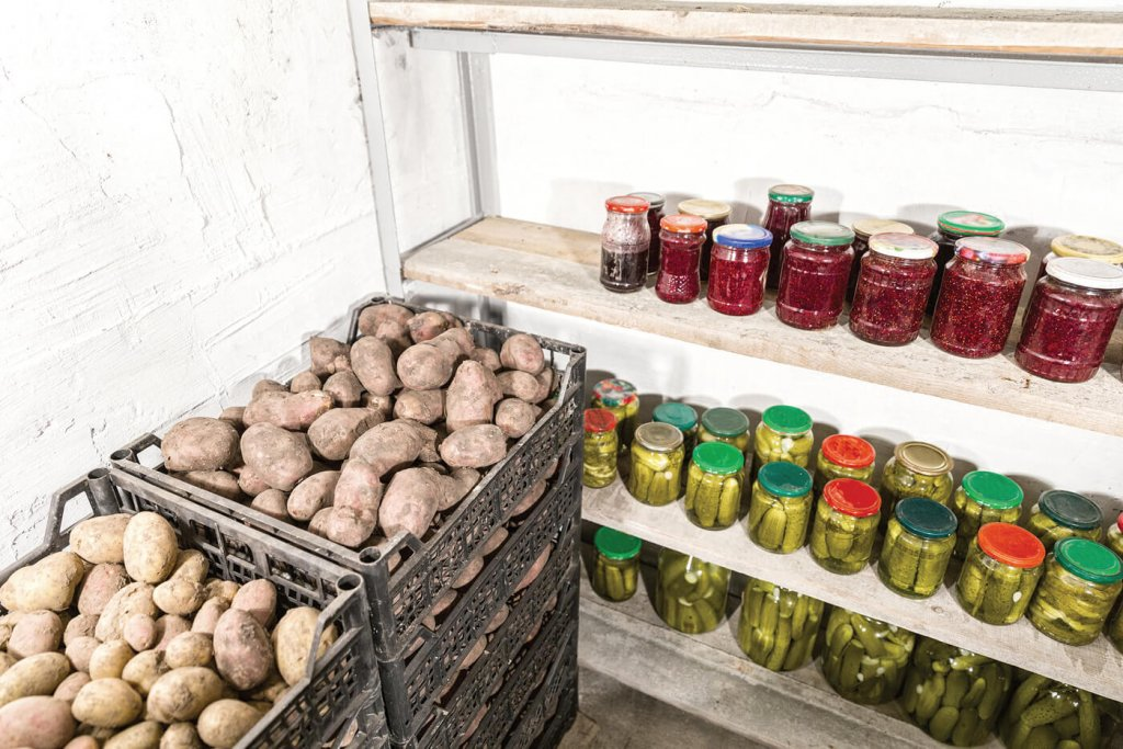 A well-stocked and organized larder is key to long-term survival. Be sure to date all food and drink containers to ensure their use in proper and timely rotation.