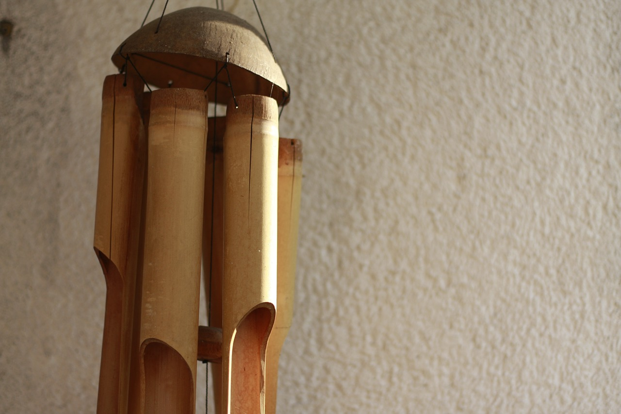 Large wooden wind chime