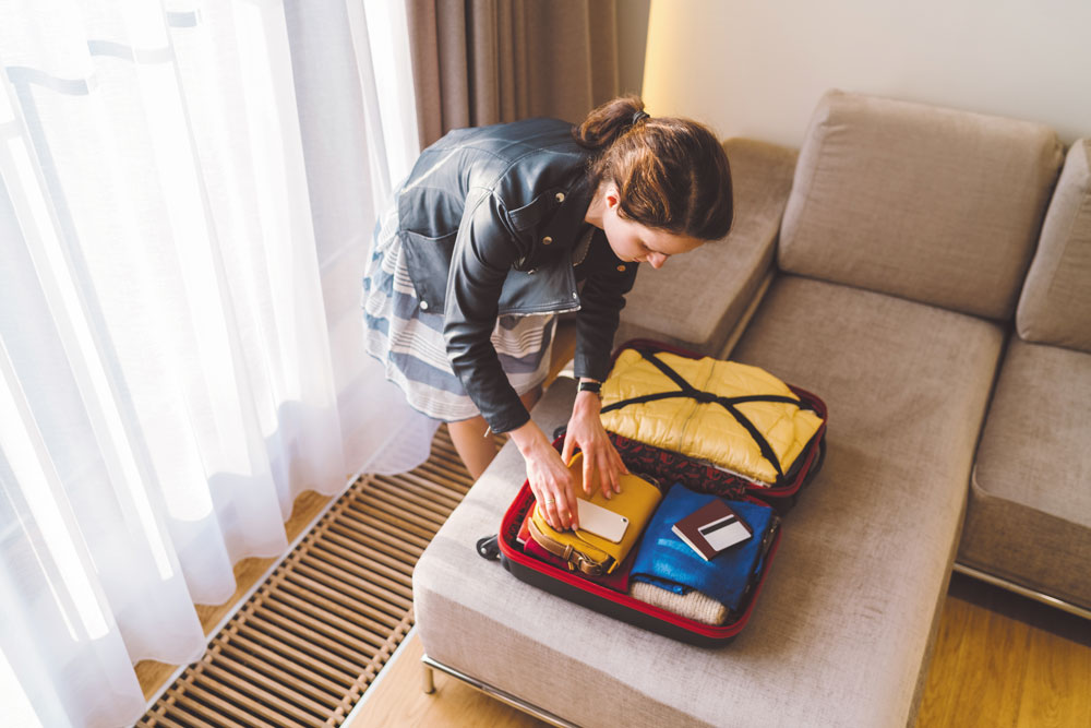 Make sure your personal bag or backpack is a good size that can hold things like your laptop and a few other essentials, but don't go overboard with items you don't even need.