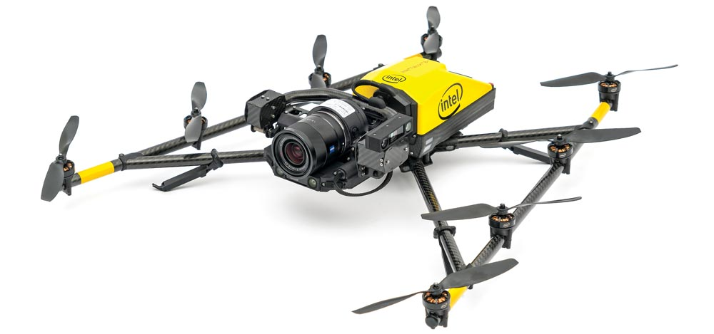 commercial drone with professional-grade camera