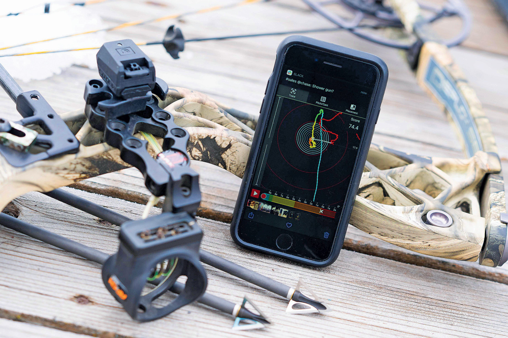 The Mantis X10 provides full shot analysis for bows using the Mantis Archery app,