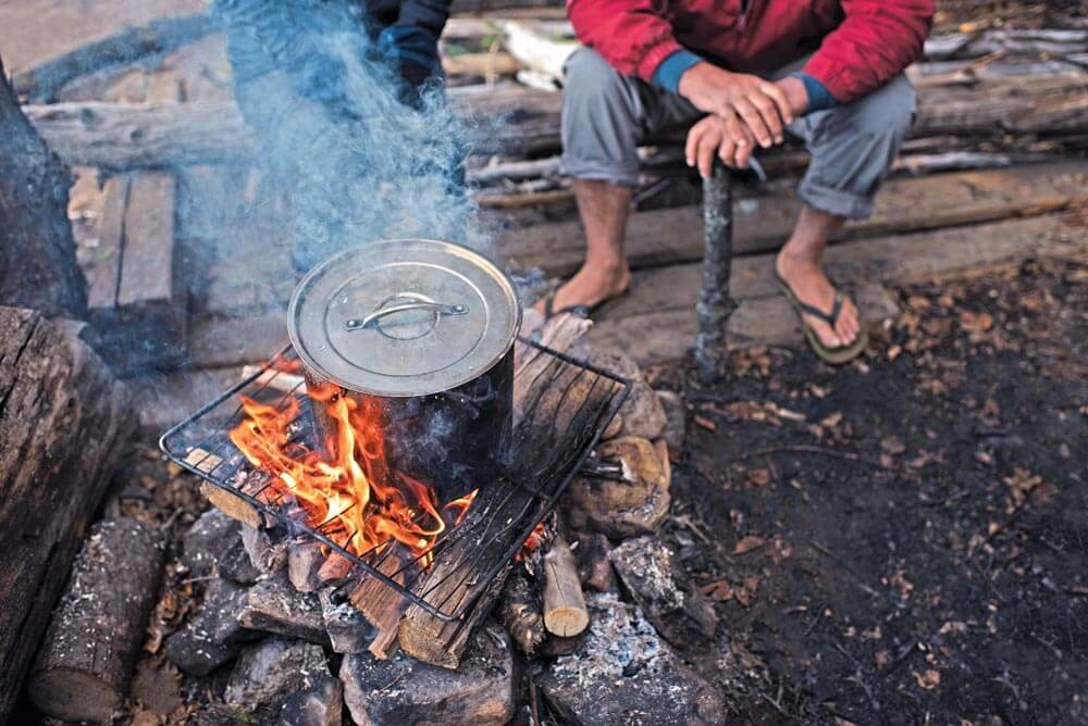 You might find that cooking over an open fire is very different from cooking on your electric stovetop at home or even on your charcoal grill in the backyard.