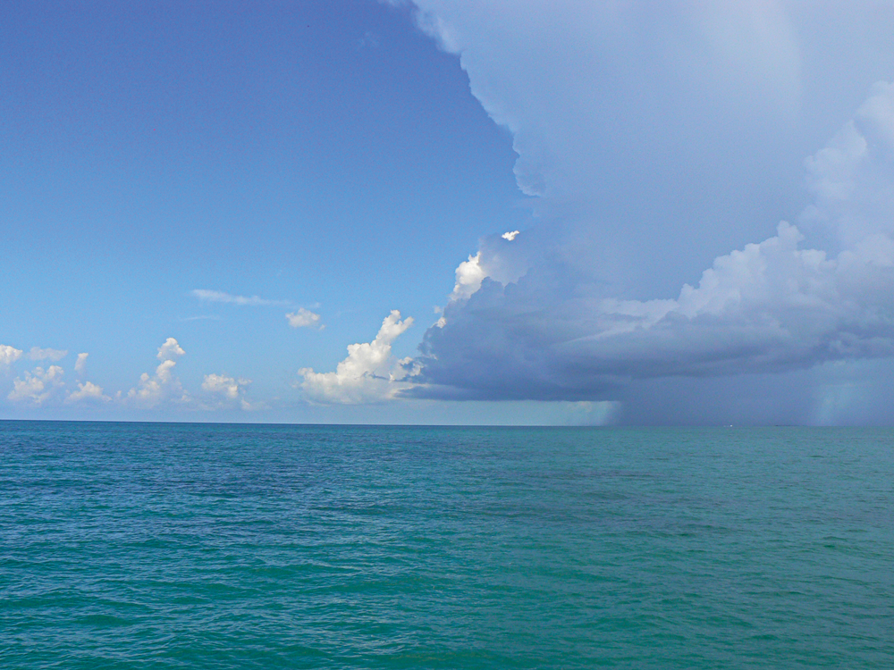 A storm off the coast of Florid