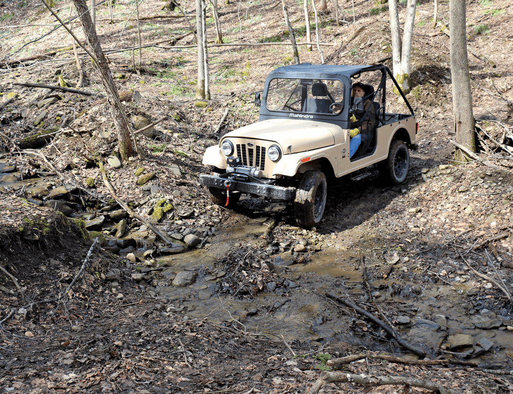 ROXOR dealer Rich Borra (shown) and the author took turns behind the wheel to test the off-road vehicle on some local trails.