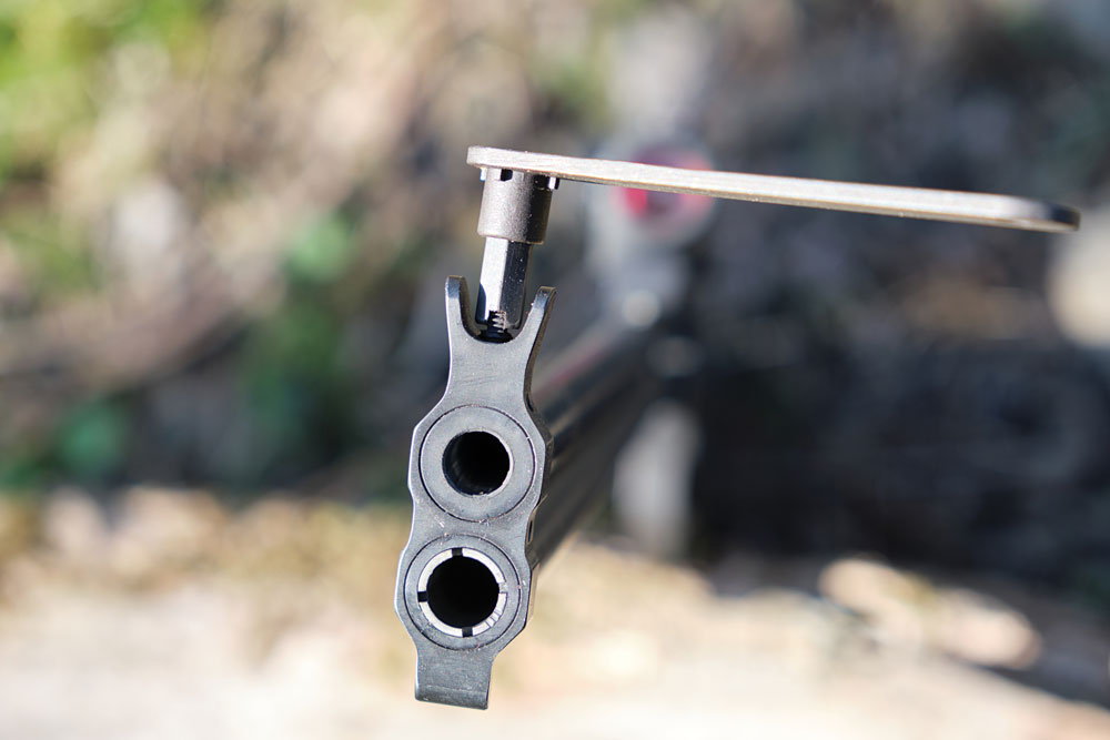 The multi-tool also doubles as a front sight adjustment tool.