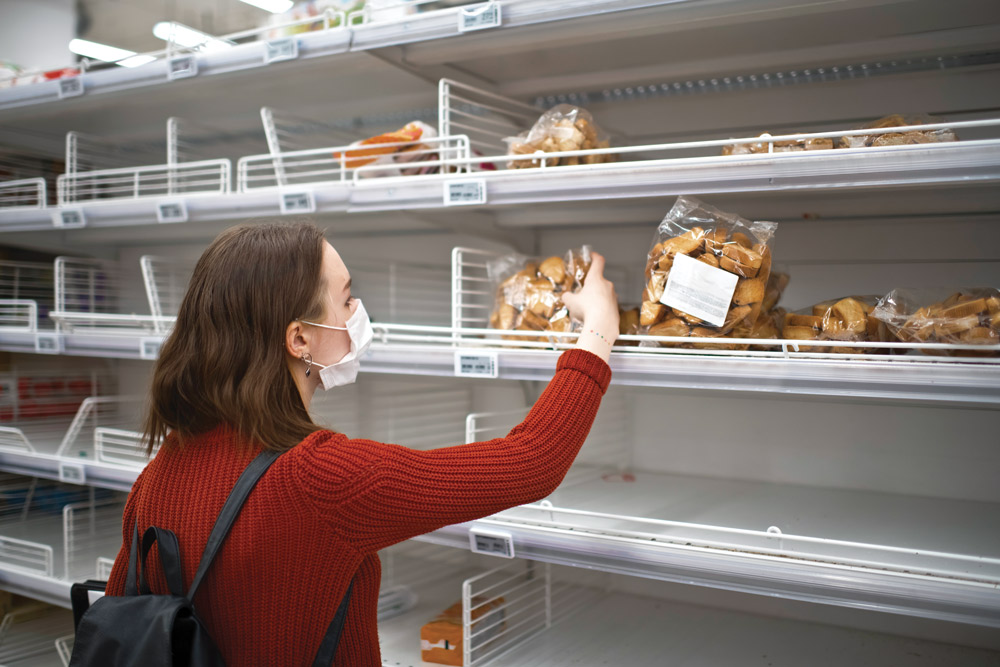 buying of groceries and other essential food-related items