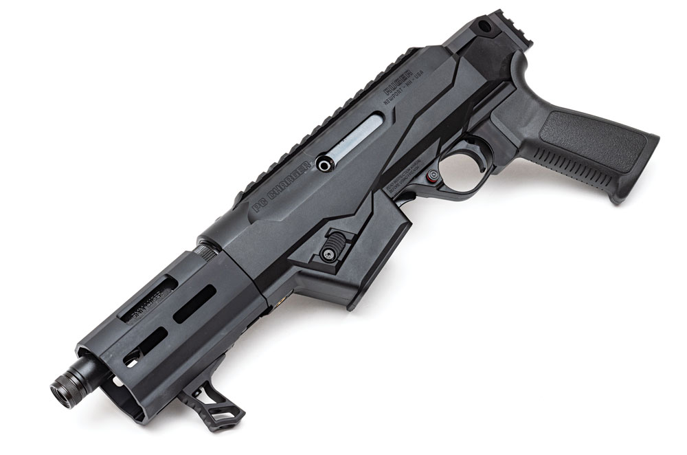 The Ruger PC Charger is a large-format pistol based on the PC Carbine chassis model.