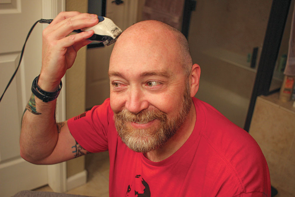 """This was one of the few times the author enjoyed his follicular """"challenges."""""""
