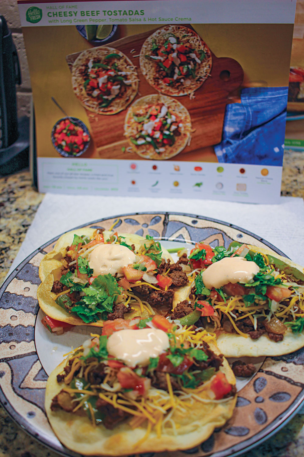 Deliveries from HelloFresh were clutch for planning and preparing meals.