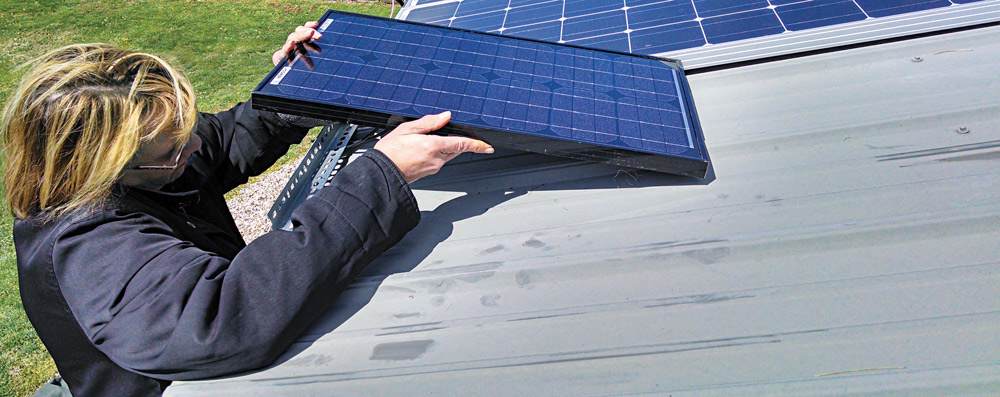 Installing solar panels is the beginning of the process of turning sunlight into electricity.
