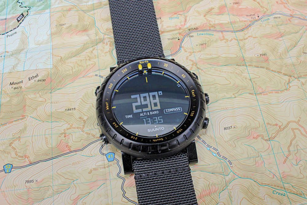Even though it provides a lot of information and detail, the Suunto Core's dial is easy to read and uncluttered.