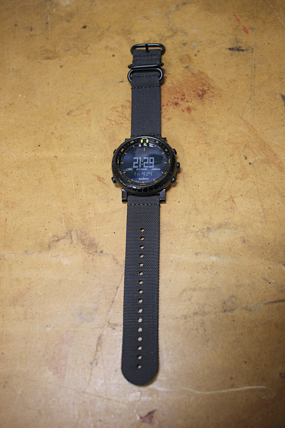 he Suunto Core came with a NATO-style web wrist strap.