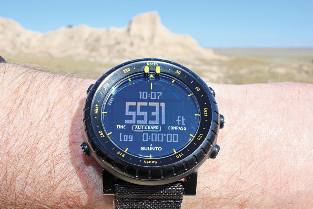 Another reference point, in much lower terrain than was visited during most of the rest of the field review, was accurately displayed by the Suunto Core's altimeter.