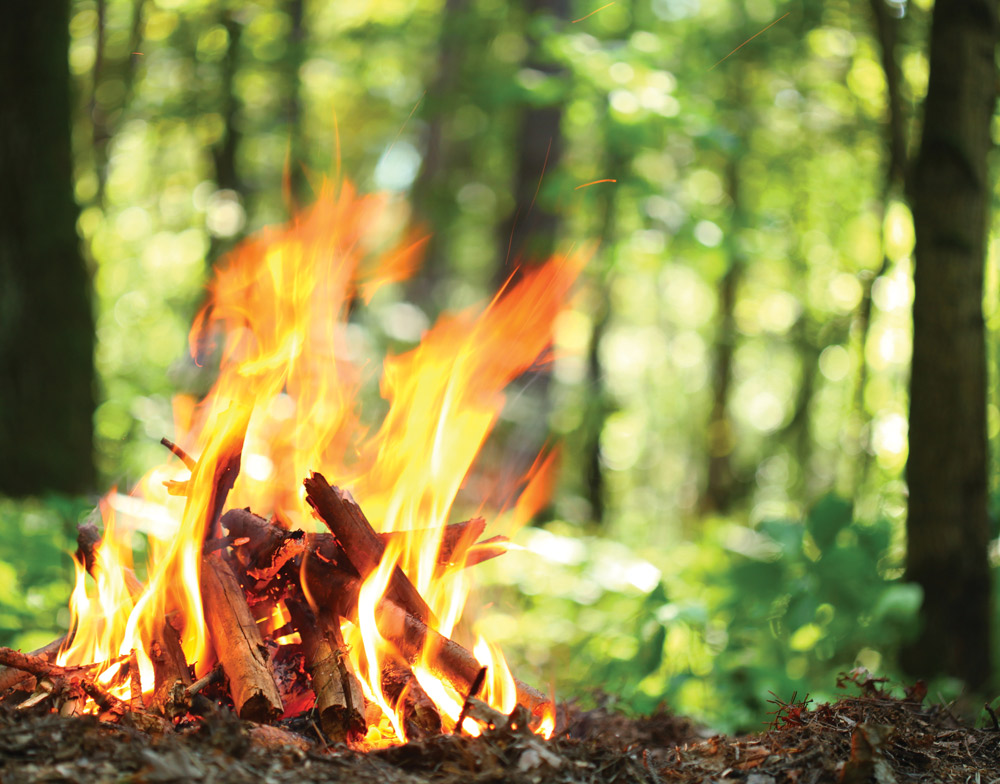 Underestimating the amount of wood needed to keep a healthy fire going throughout the night can cause numerous problems. Build your firewood pile large and experience a warm, worry-free night. (Photo: Bigstock)