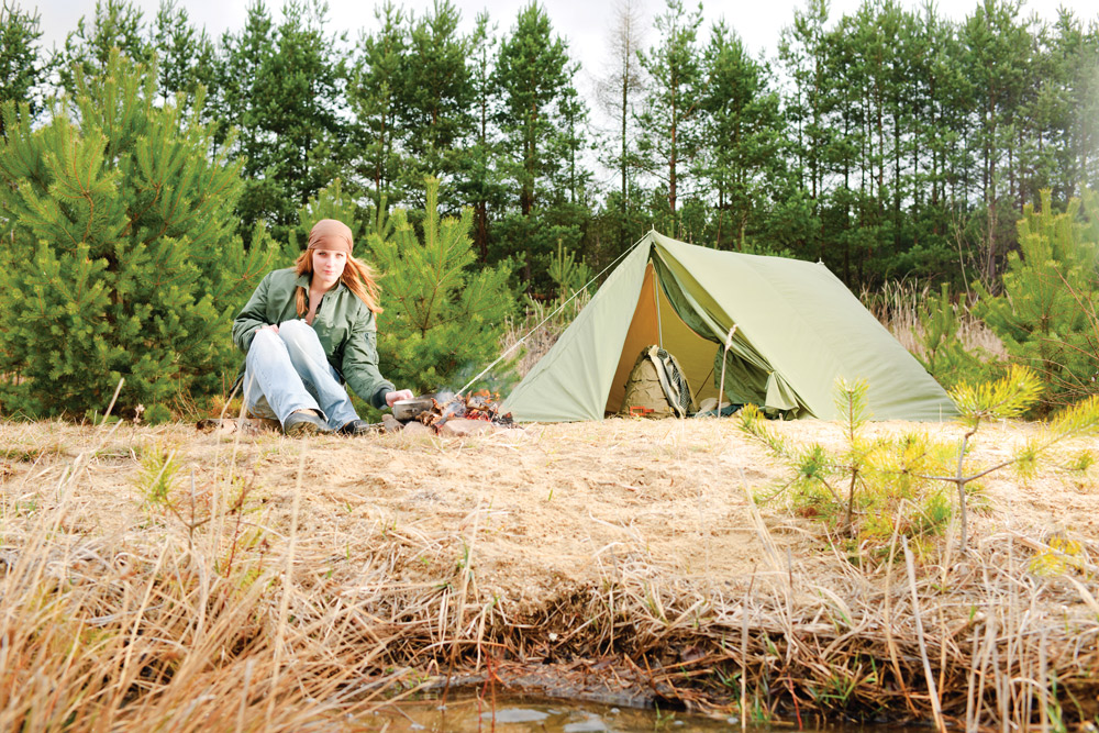You'll need to set up at the best-suited location, gather firewood for your campfire
