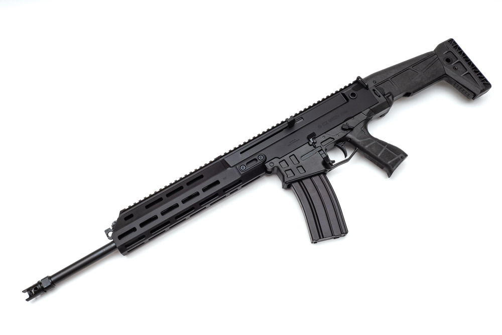 The new CZ Bren 2 Ms carbine uses a gaspiston operating system, keeping it cleaner and requiring less maintenance.