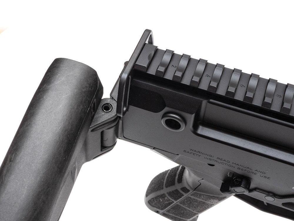 The Bren 2 Ms comes with an adjustable, five-position folding stock.