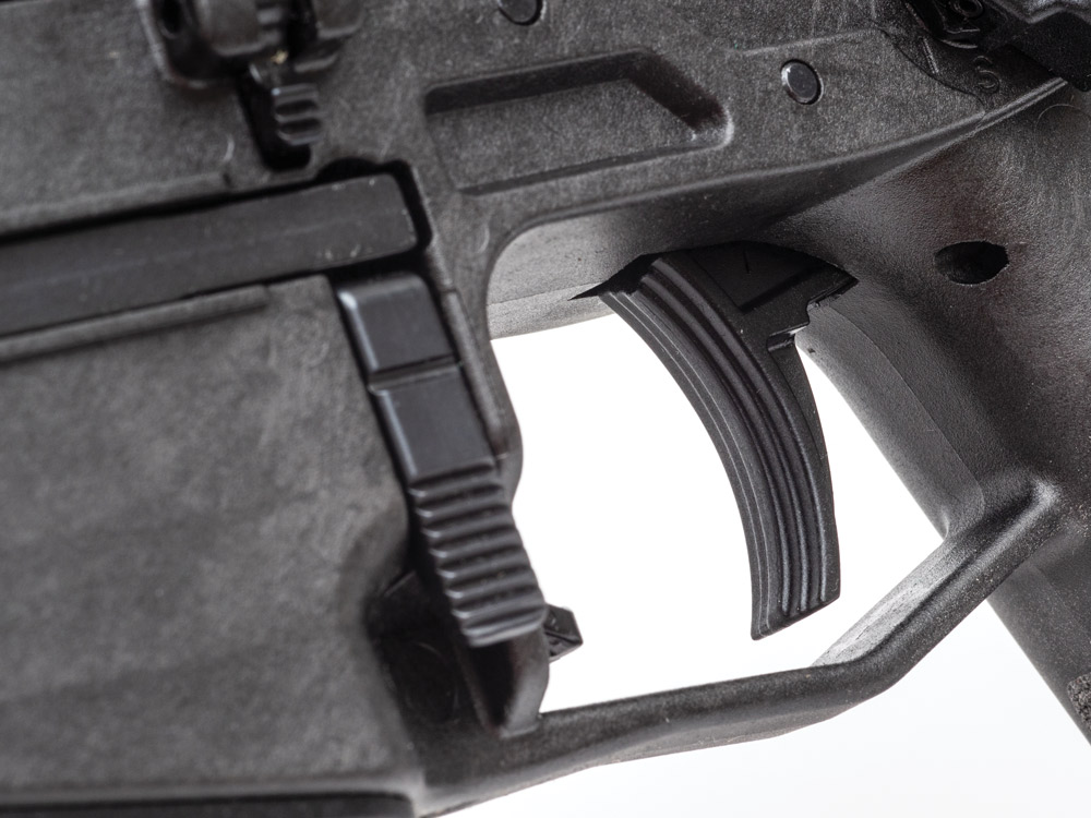 The single-stage trigger has a light and crisp break at around 3.75 pounds of pressure