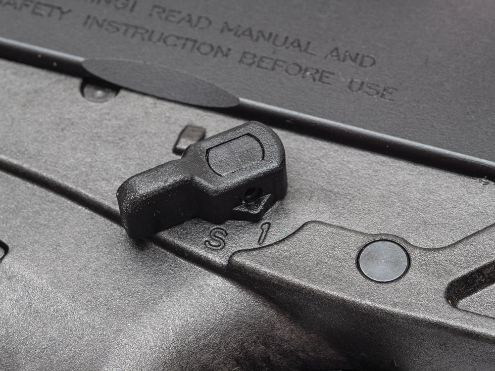 The Bren 2 Ms Carbine includes an ambidextrous safety selector for left-handed shooters.