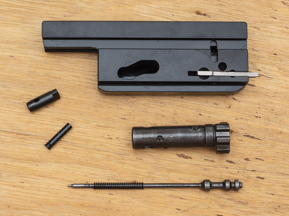 Unlike the original 805 Bren, the bolt assembly can be broken down by the user for easy maintenance.