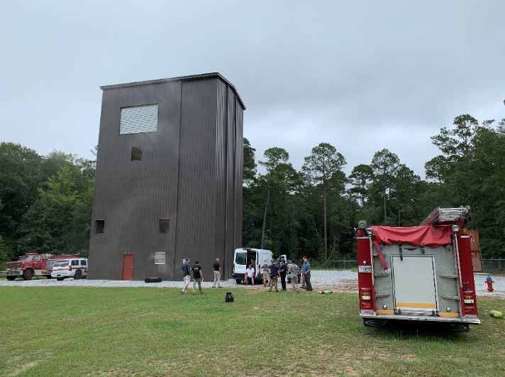 An authentic firefighter training facility was used for testing multiple items during an early episode of Southern Survival.