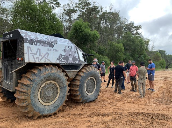 The big Sherp ultimate ATV was pulled out for filming this episode of Southern Survival on the BattlBox ranch