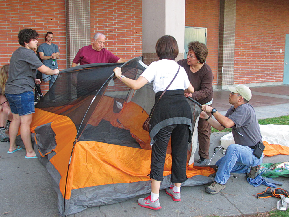 Learn how to set up a tent.